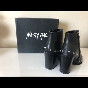 Nasty Gal Charlie Studded Bootie